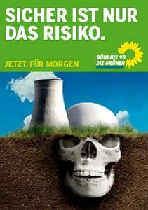 Sikker er bare risikoen, sier Die Grünen om atomkraft