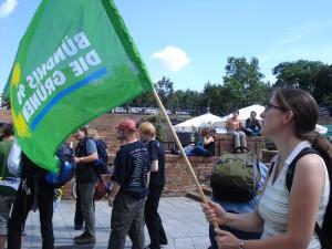 GRÜNER Protest gegen Atomkraft