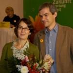 zusammen mit Volkmar Zschocke, Landesvorstandssprecher von Bündnis 90/Die Grünen