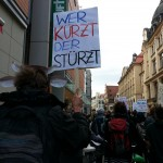 Uni-Protest in Leipzig