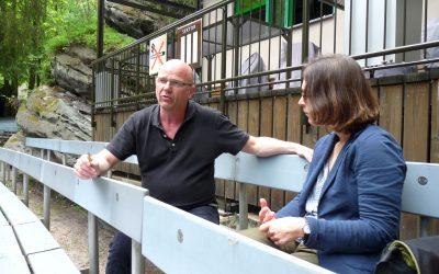 Manuel Schöbel und Claudia Maicher in Rathen