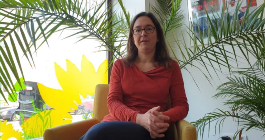 Screenshot von Video mit Claudia Maicher zur Unterstützung der Kultur in Sachsen