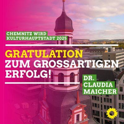 Chemnitz wird Kulturhauptstadt 2025 - Gratulation!