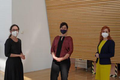 Dr. Claudia Maicher und Franziska Schubert (Bündnisgrüne) gratulieren Dr. Nancy Aris zur Wahl als neue Landesbeauftragte zur Aufarbeitung der SED-Diktatur