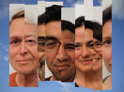 Bildcollage von zusammengeschnittenen Fotos verschiedener Menschen © Michael Touma