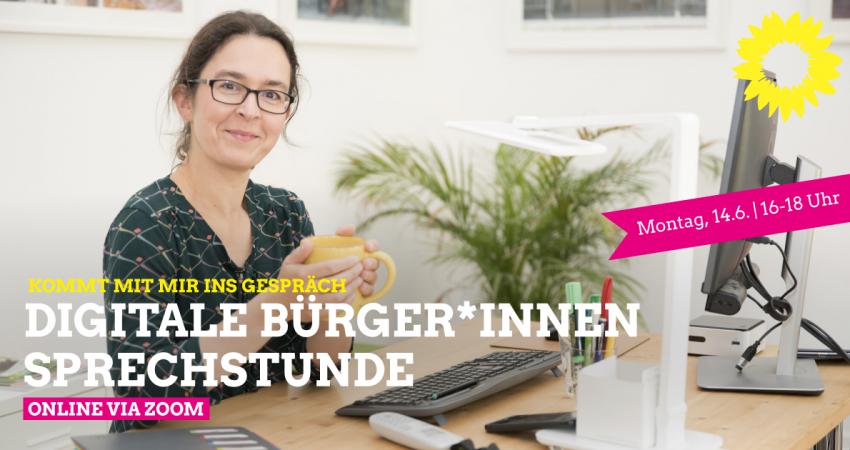 Claudia Maicher lädt zur digitalen Bürger*innensprechstunde ein