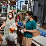 Claudia Maicher auf Nachbarschaftstour beim Upcycling-Projekt Restlos im Leipziger Westen 2