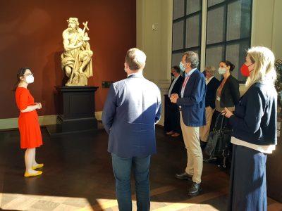 Rundgang vom Kulturausschuss des Sächsischen Landtags bei den Staatlichen Kunstsammlungen Dresden 4