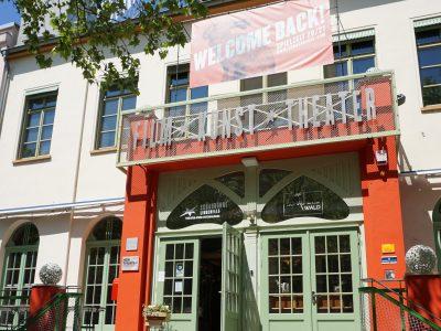 Außenansicht der Schaubühne Lindenfels auf der Karl-Heine-Straße in Leipzig