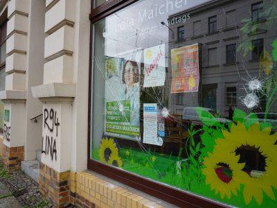 Angriff auf Abgeordnetenbüro Grüner Raum am Kanal in Plagwitz 1