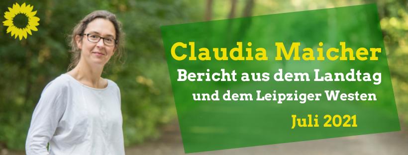 Portrait Claudia Maicher im Auwald, Bericht aus dem Landtag und dem Leipziger Westen