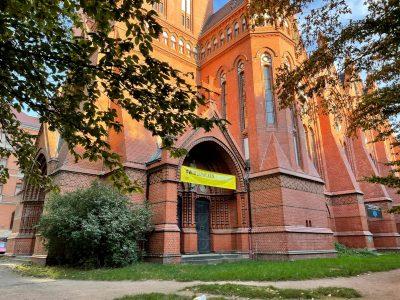 Außenansicht der Heilandskirche Leipzig Lindenau/Plagwitz
